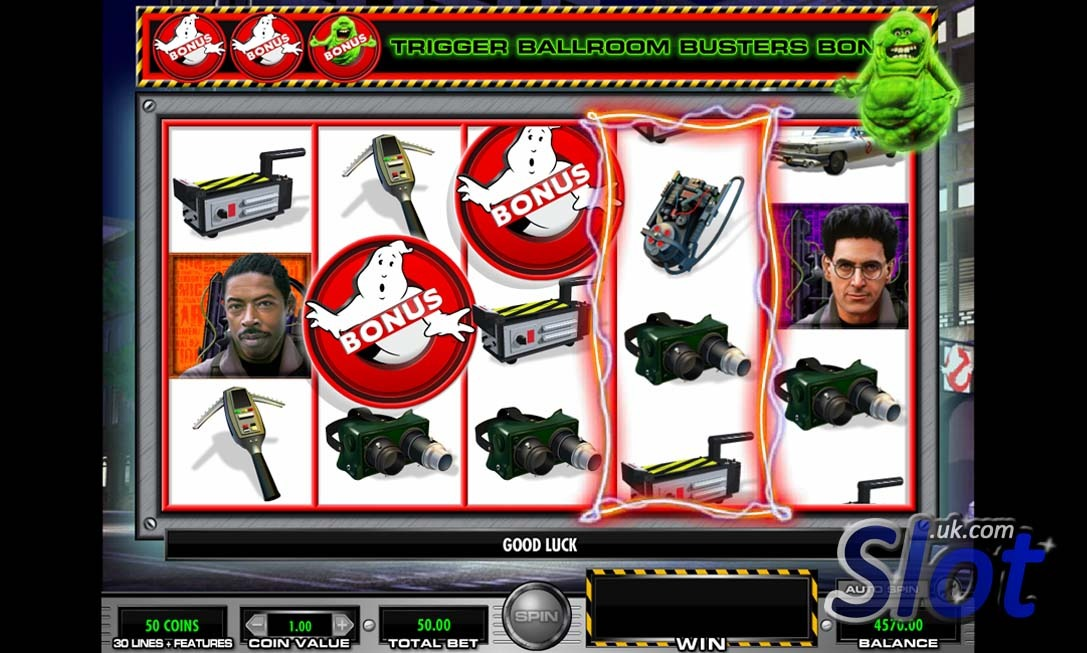 Ghostbusters slot game