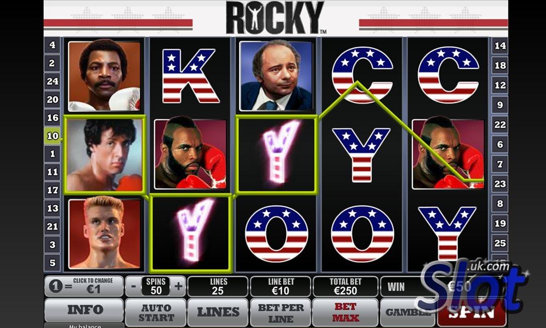 Play Rocky Online Slots at Casino.com UK