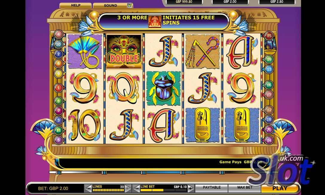 Cleopatra Slot Game Reels