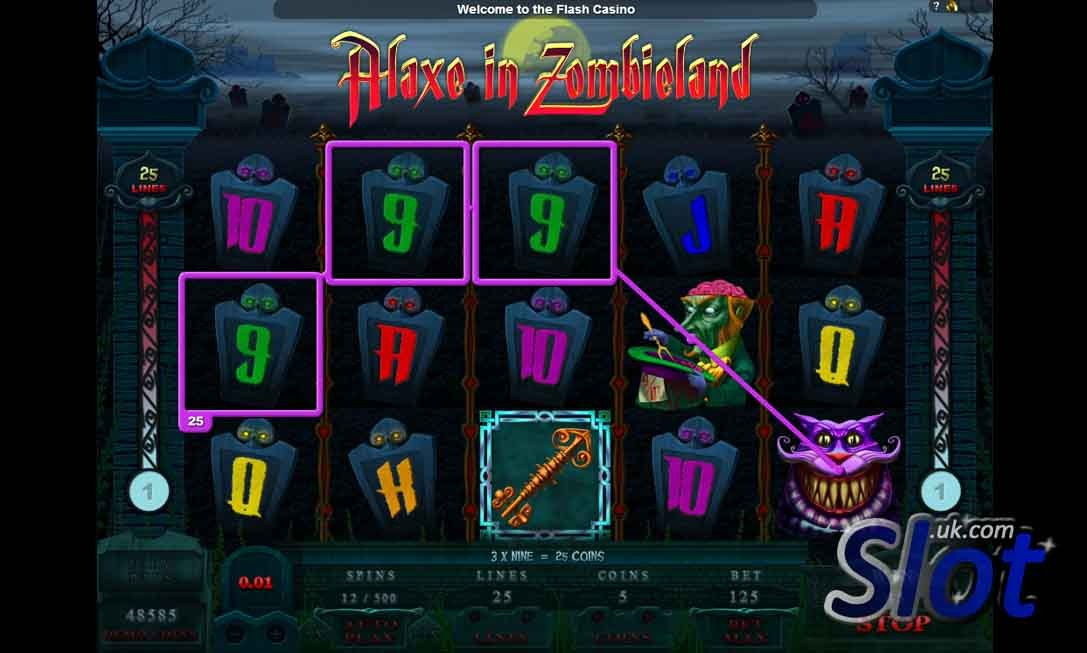Alaxe in Zombieland Slot Game Reels