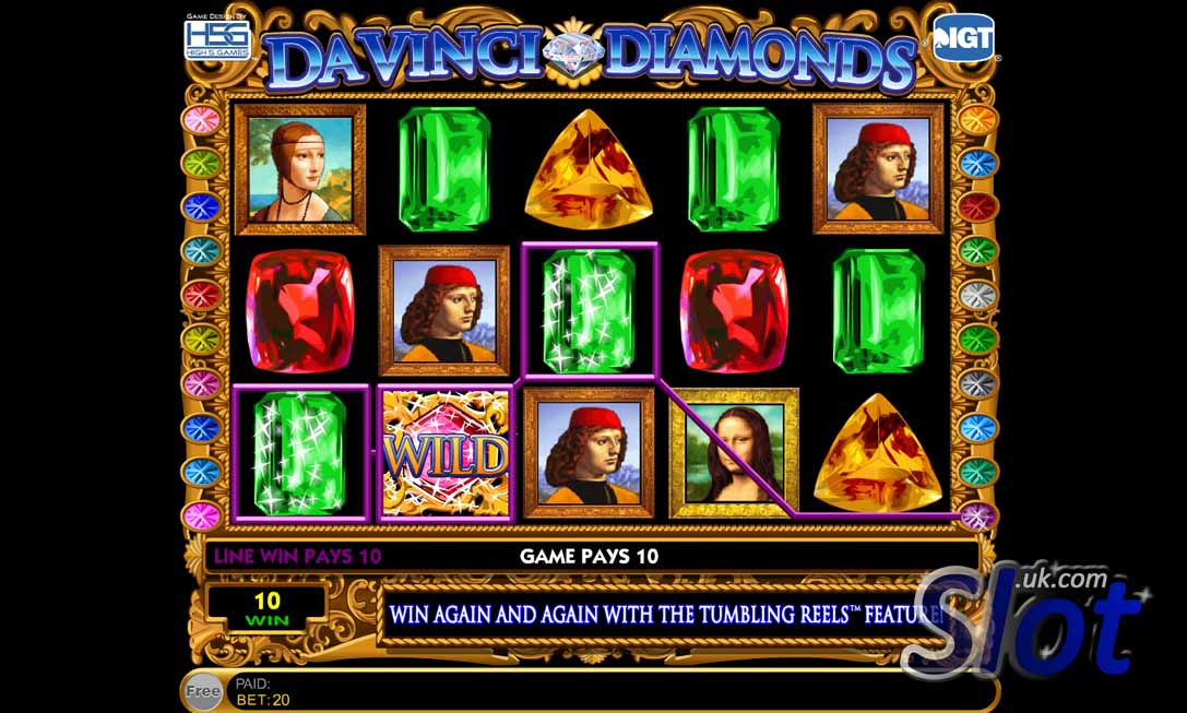 Da Vinci Diamonds Slot Reels 2