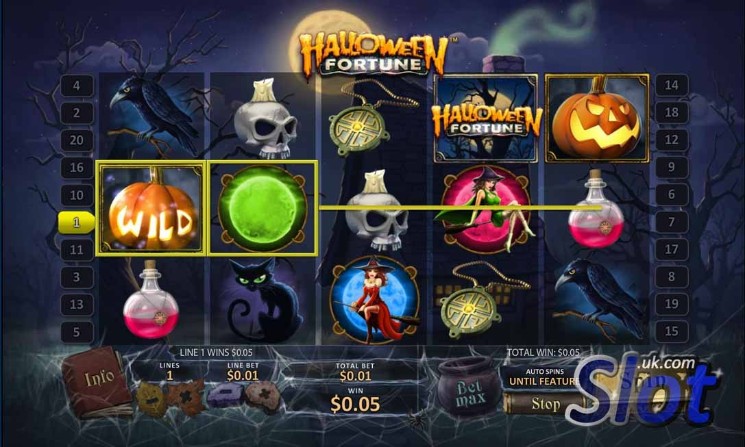 Play Halloween Fortune Slots Online at Casino.com South Africa