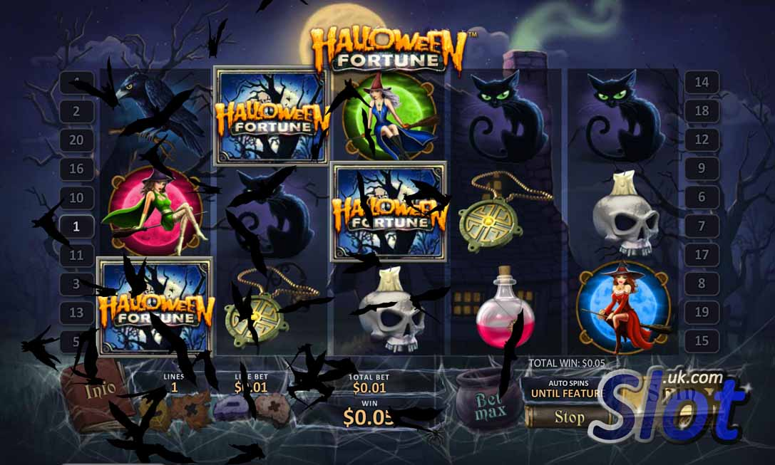 Play Halloween Fortune Online Slots at Casino.com UK