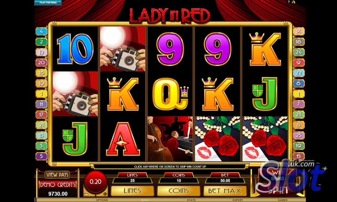 Lady in Red slot game