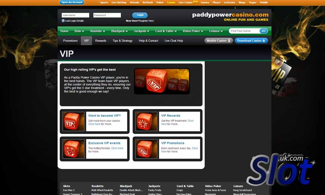 Paddy power online slot