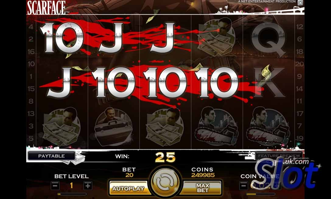 Scarface Slot Game Bonus