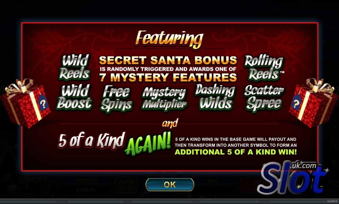 Secret Santa Slot Game Reels