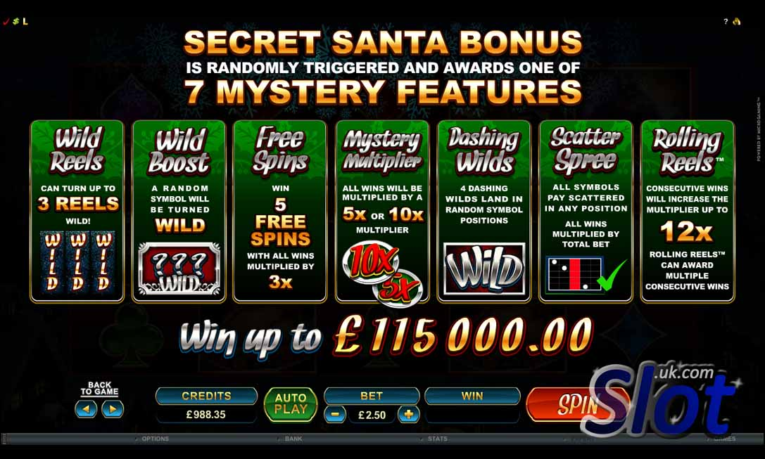 Secret Santa Slot Bonus