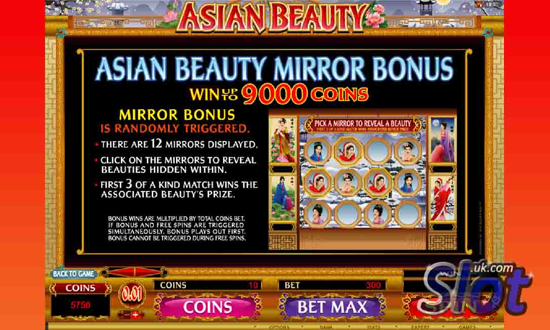 asian beauty slot game from microgaming