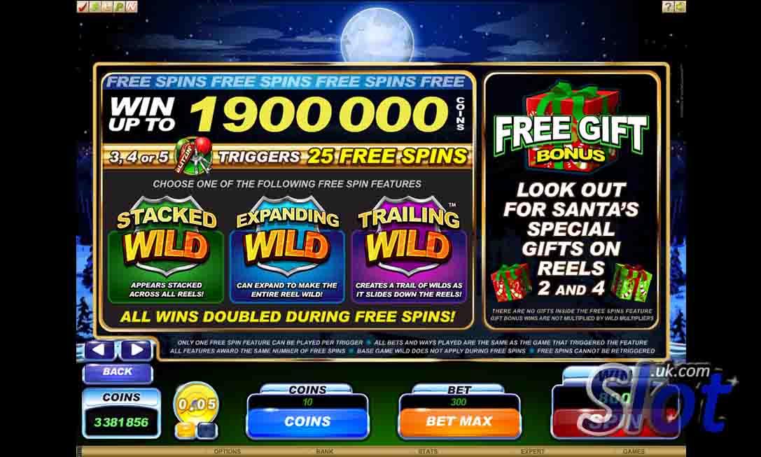 Santa's Wild Ride Slot Bonus