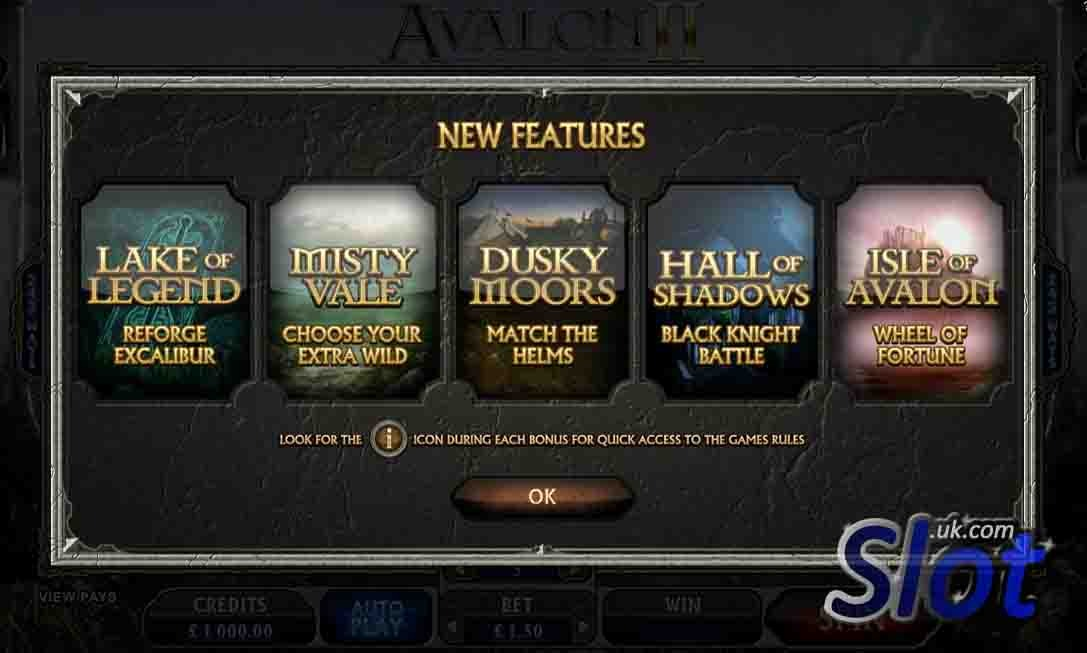 Avalon II Slot Bonus