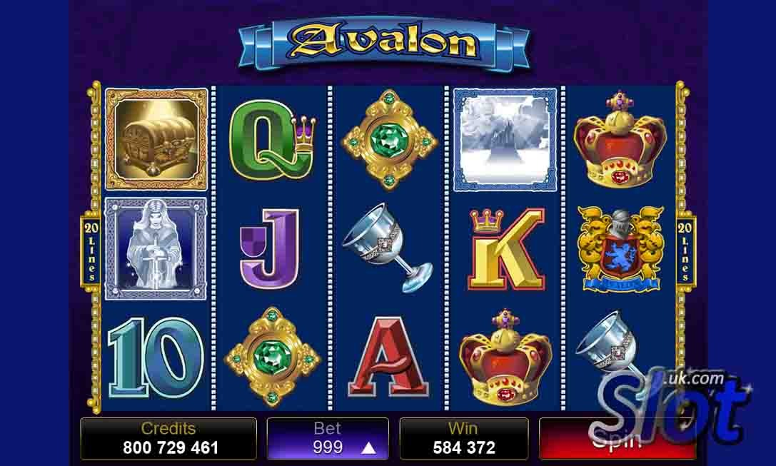 Avalon Slot Game Reels