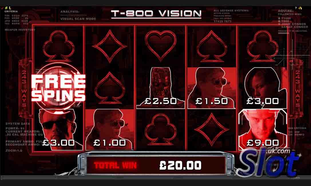 Terminator 2 Slot Game Reels