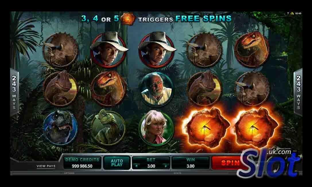 Jurassic Park Slot Bonus