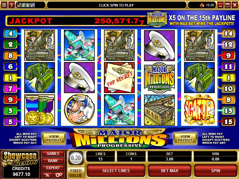 Major Millions Jackpot Slot Game