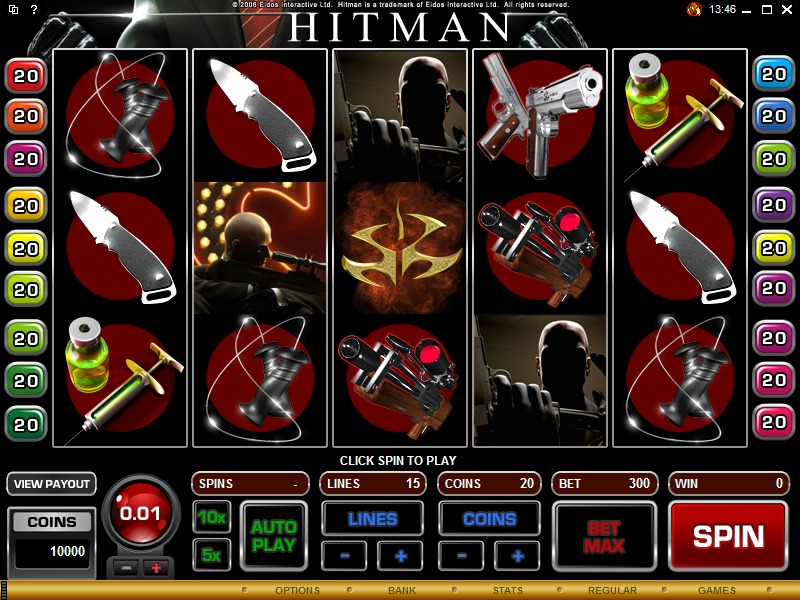 Hitman Slot Game Reels