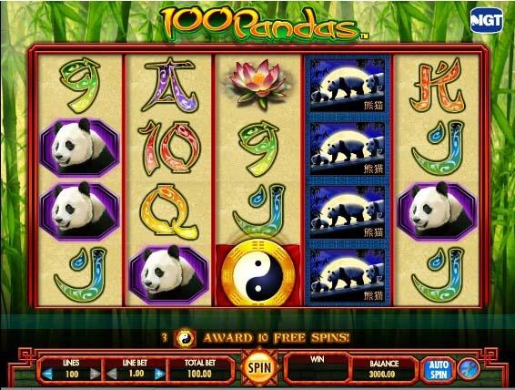 100 Pandas Slot Game Reels