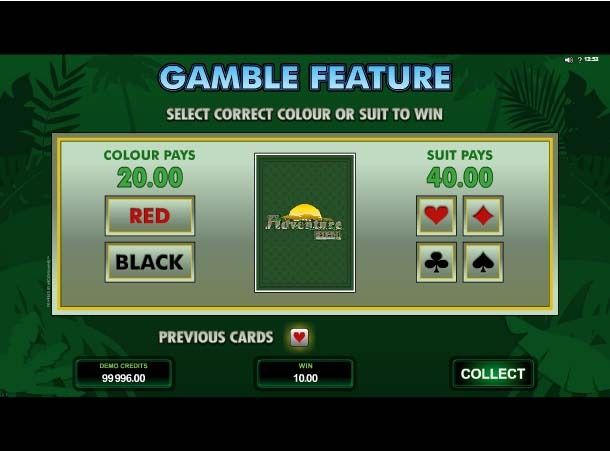 Adventure Palace Slot Paytable
