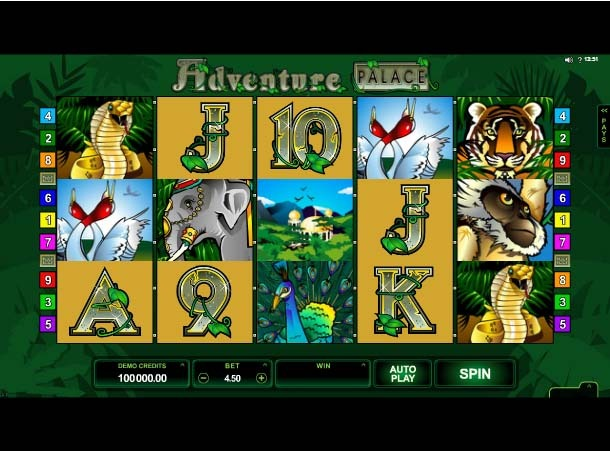 Adventure Palace Slot Game Reels