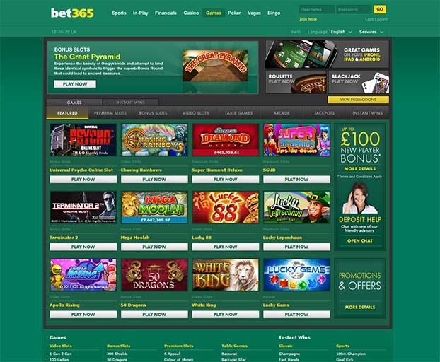 Bet365 Games Page