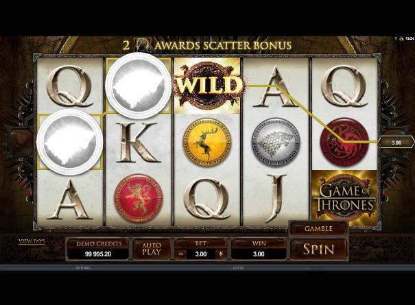 Game of Thrones Slot Wild