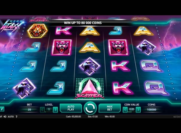 Neon Staxx Slot Game Reels