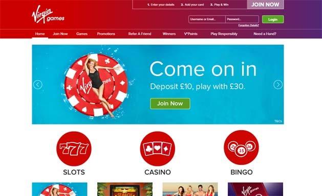 Virgin Games Homepage