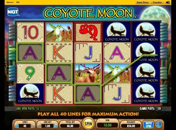 Coyote Moon Slot Bonus Round