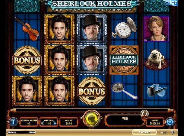 Sherlock Holmes The Hunt for Blackwood Slot Game Reels