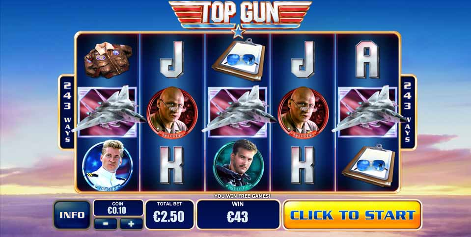 Play Top Gun Online Slots at Casino.com NZ