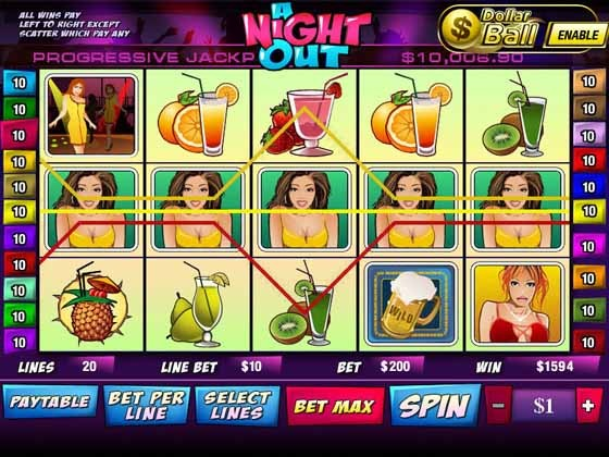 A Night Out Slot Game Reels