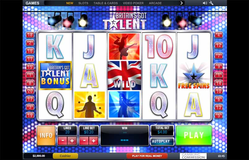 Britain's Got Talent Slot Game