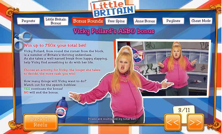 Little Britain Slot Bonus Feature