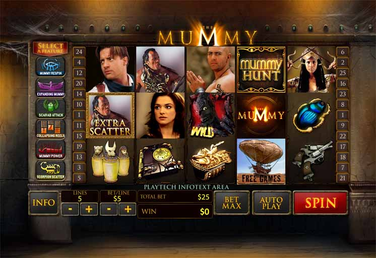 The Mummy Slot Game Reels