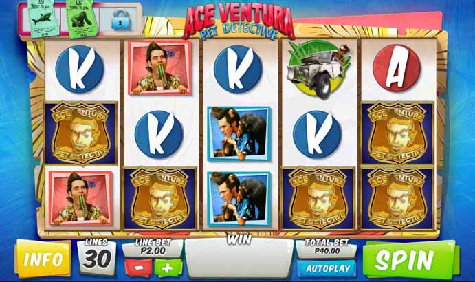 Ace Ventura Slot Game Reels