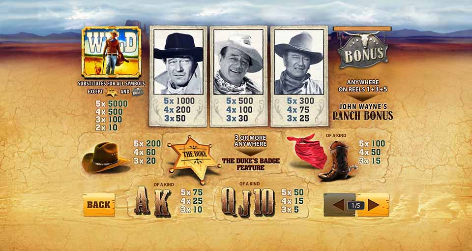 Play John Wayne Slots Online at Casino.com South Africa