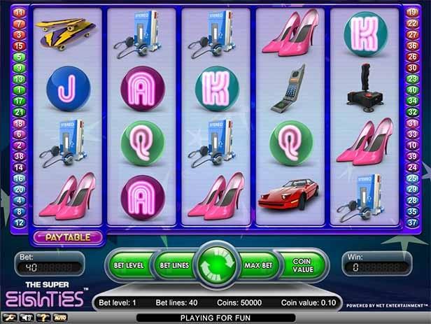 The Super Eighties Slot Game Reels