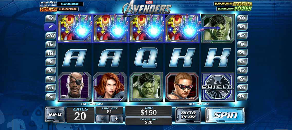 The Avengers Slot Game Reels