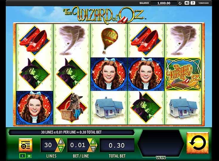 The Wizard of Oz Slot Game Reels