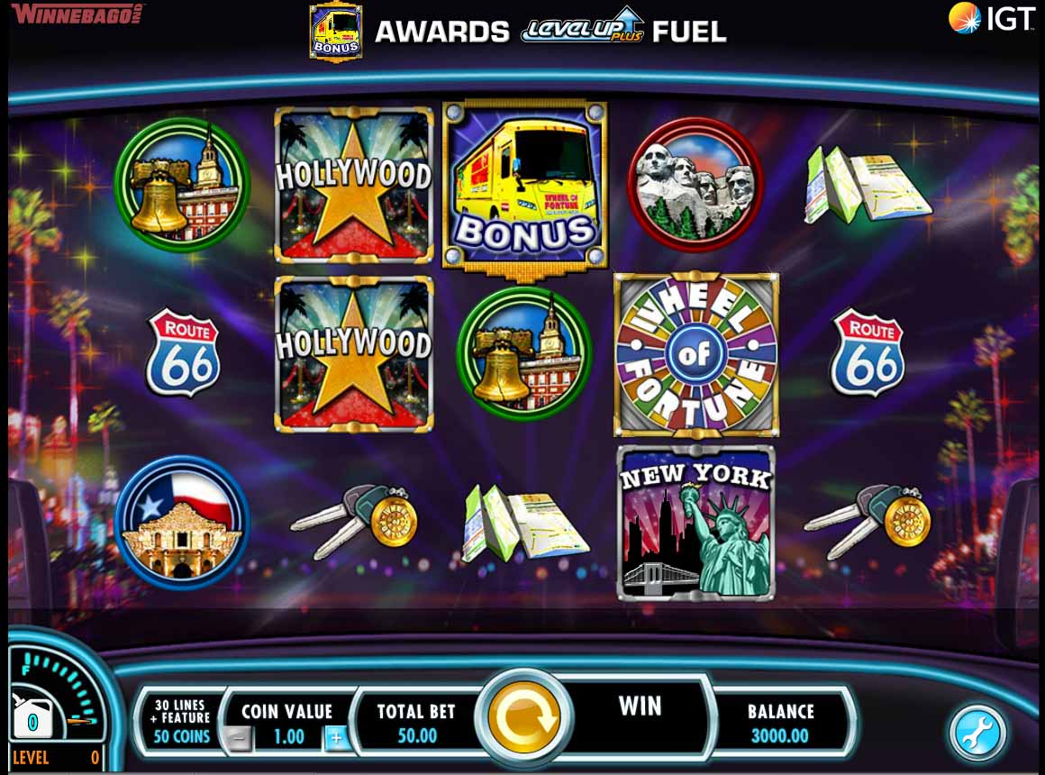 Wheel of Fortune On Tour Slot Reels