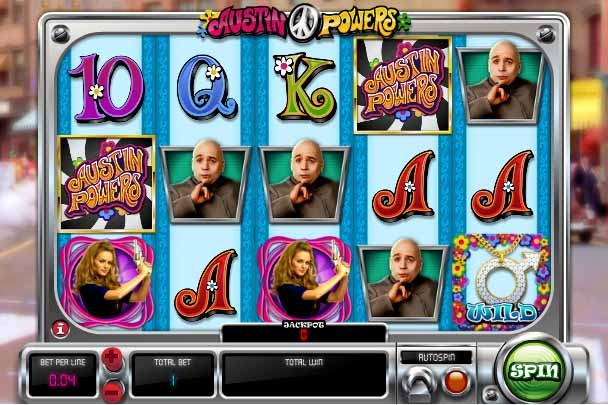Austin Powers Slot Game Reels