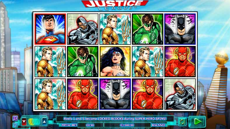 Justice League Slot Game Reels