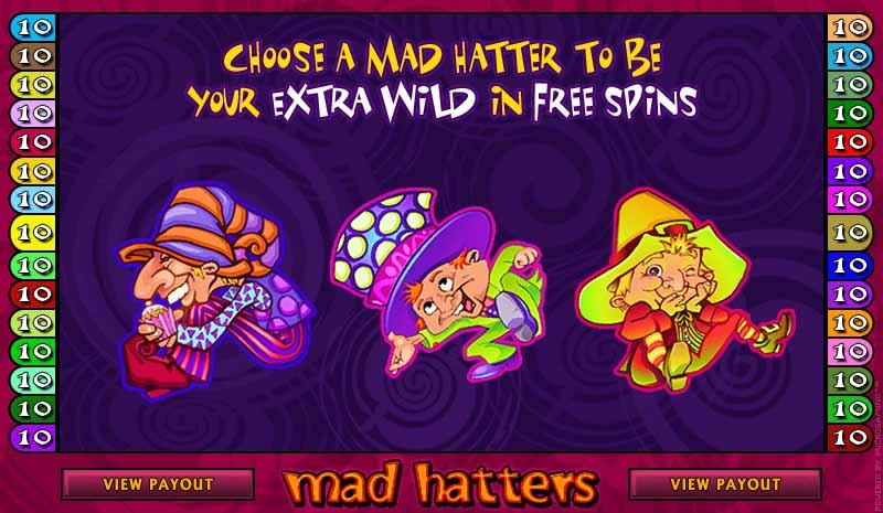 Mad Hatters Slot Bonus