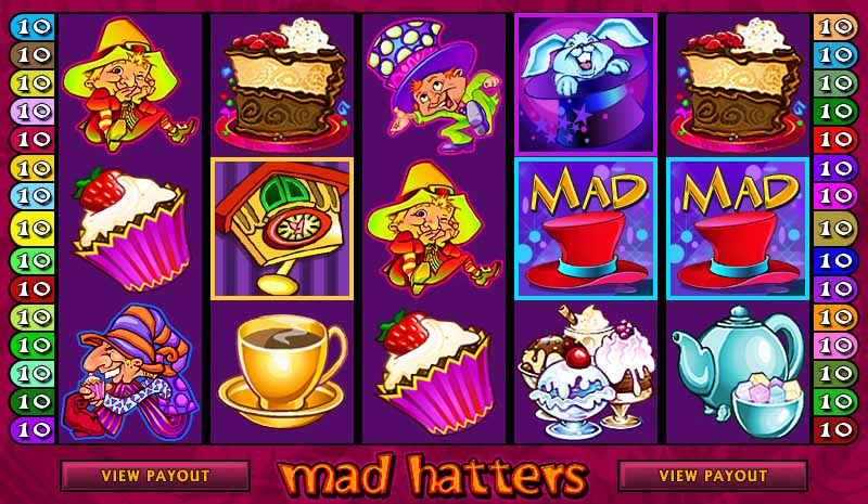 Mad Hatters Slot Game Reels