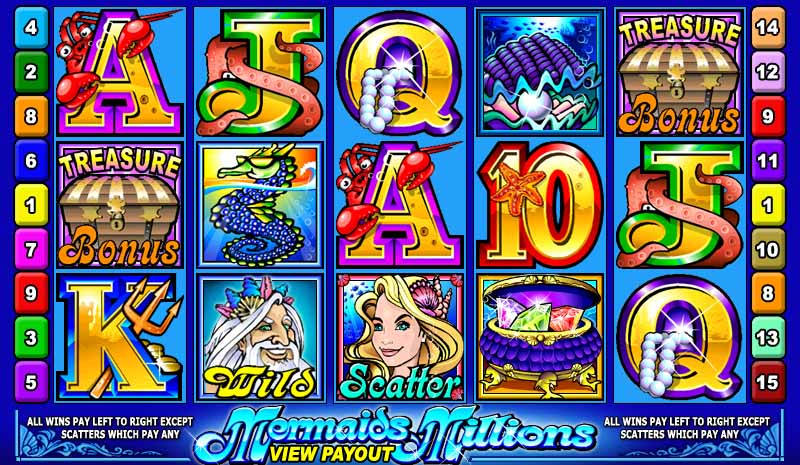 Mermaids Millions Slot Game Reels