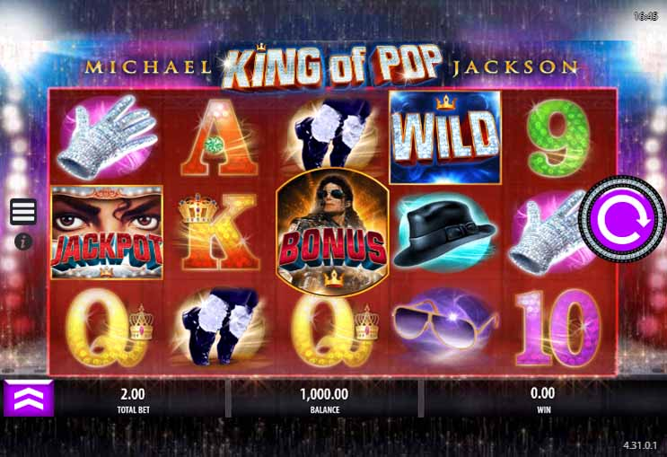Michael Jackson King of Pop Slot Game Reels