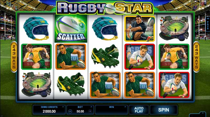 Rugby Star Slot Game Reels