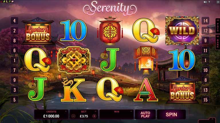 Serenity Slot Game Reels