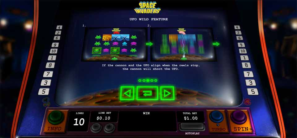Space Invaders Slot Bonus