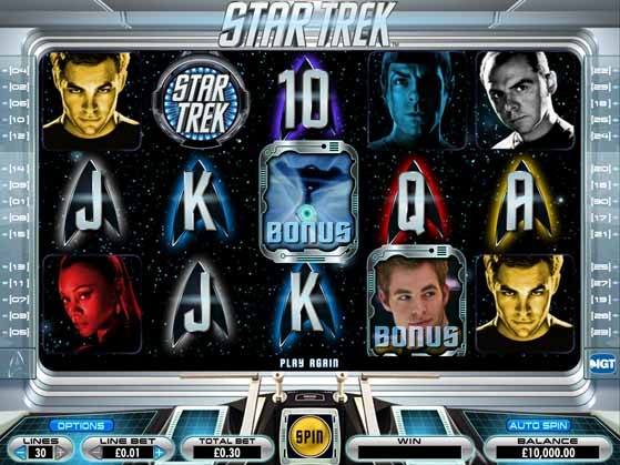 Star Trek Slot Game Reels